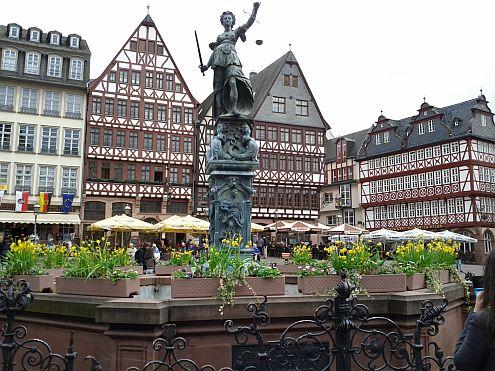 Justice in the main square Frankfurt